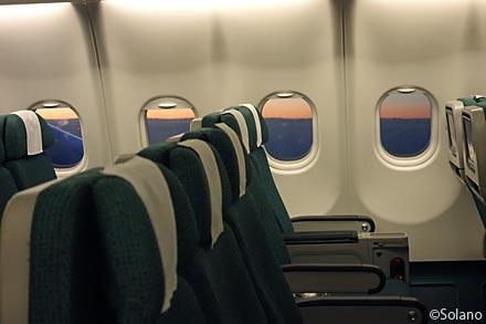 キャセイパシフィック航空、香港‐名古屋中部、機窓