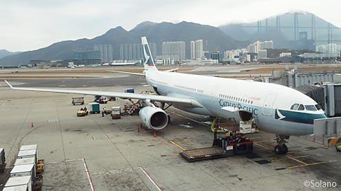 CX532、香港‐名古屋線のA330