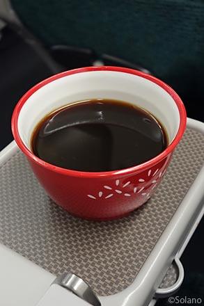 CXプレミアムエコノミークラス、食後のコーヒー