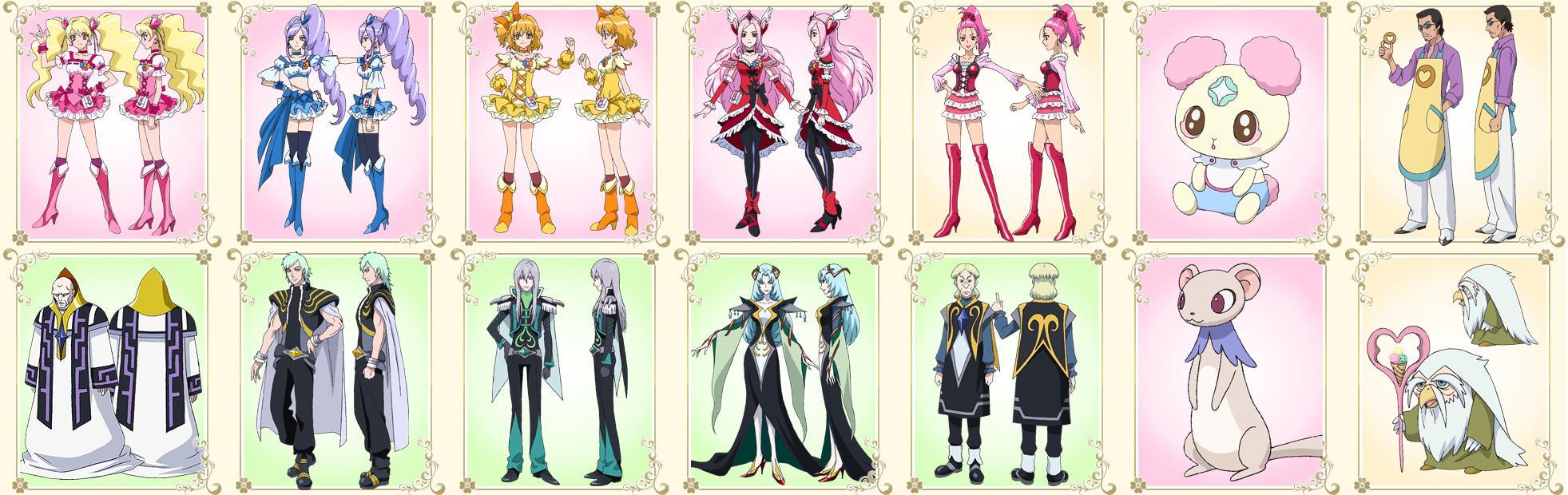 「フレッシュプリキュア!」主要登場キャラクター