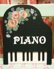 ピアノ型看板