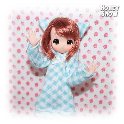 1/6DOLL 【ルームウェア】 服 ネコ耳 えっくすきゅーと、もこちゃん