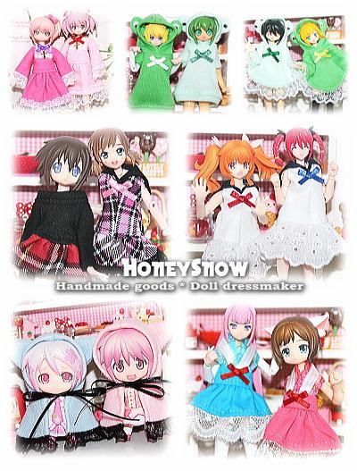 HoneySnow/ドール服(神姫、ねんどろいど、ピコニーモ)