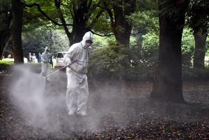 Mosquito control in Yoyogi Park