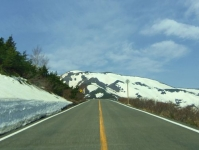 蔵王エコーライン7GW2014残雪の山