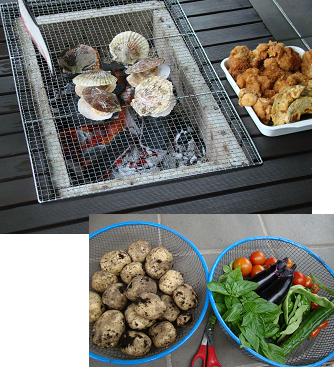 BBQホタテと野菜