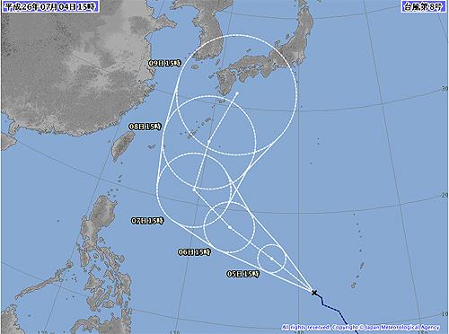 台風8号-2014年