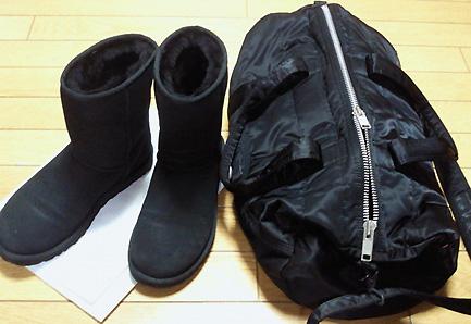まずはバッグと靴の色を合わせます