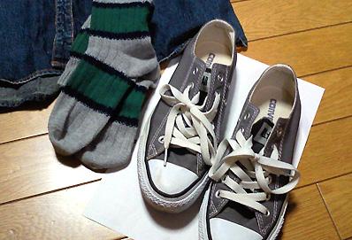 緑色の靴下もほしい…