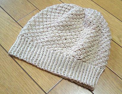 友人お手製の夏ニット帽