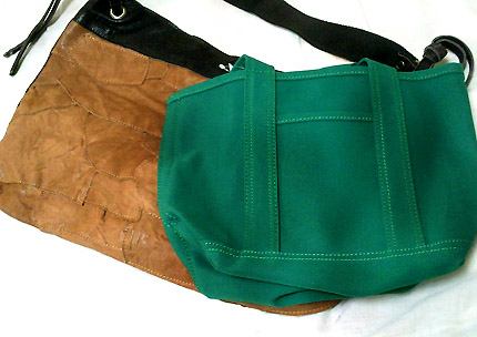 この「THE 緑!」って感じのトートバッグに一目ぼれしました
