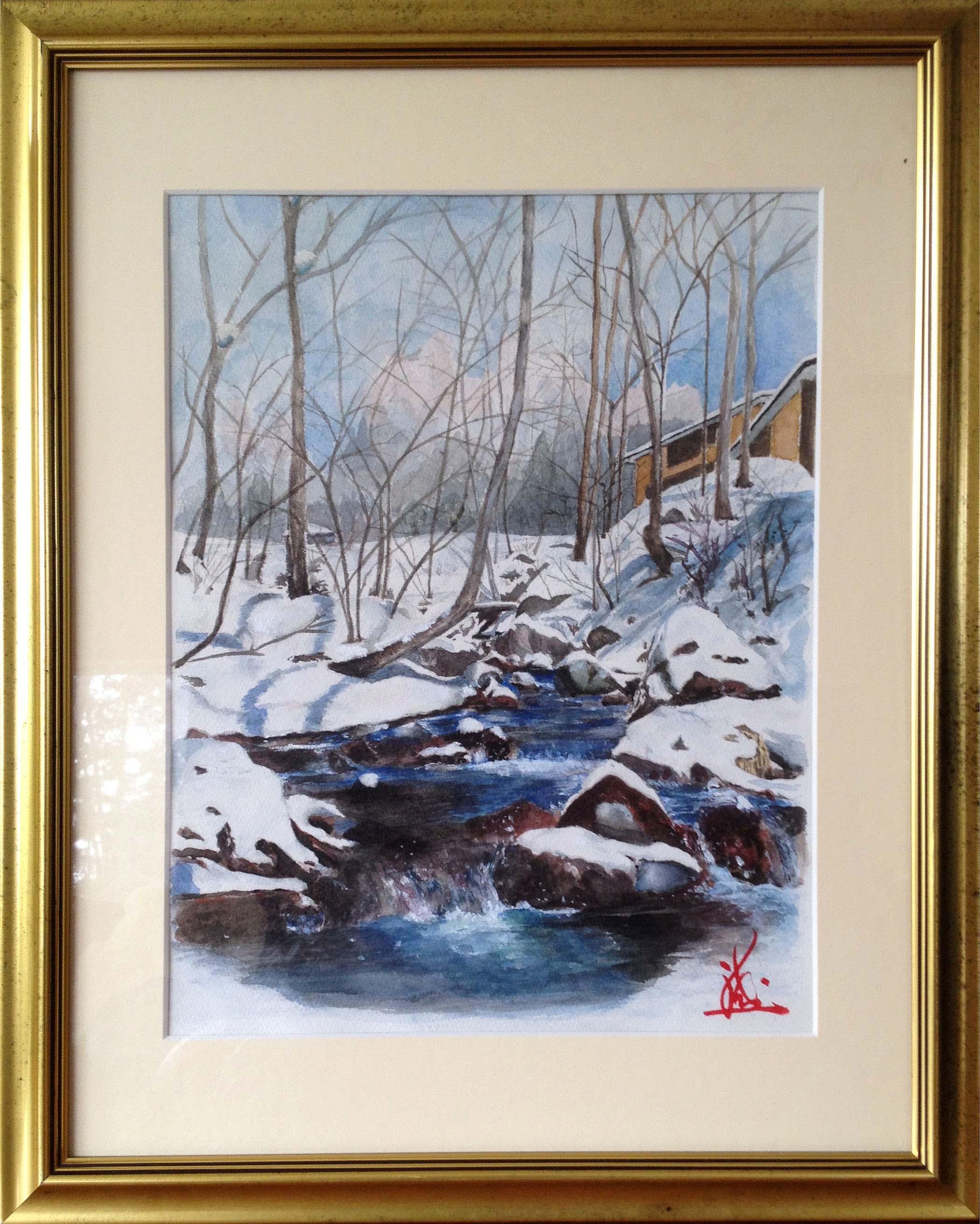 残雪の宮川