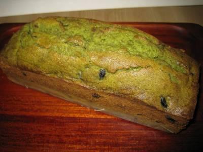 黒豆と抹茶のケーキ