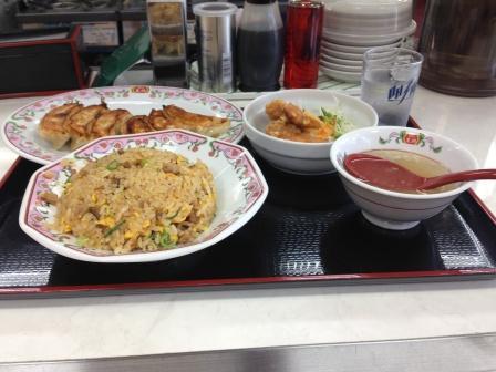 餃子の王将・駅前定食_H26.07.15撮影