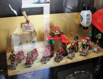 喫茶店雲仙の山鉾ミニチュア_H26.07.16撮影