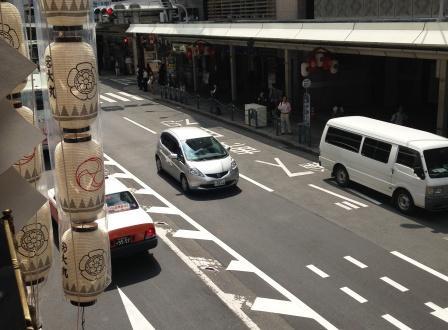 長刀鉾上から四条通り_H26.07.16撮影