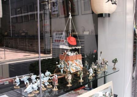 和紙で造られた長刀鉾のミニチュア_H26.07.16撮影