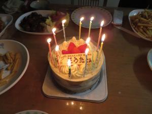 BDケーキ_ろうそく
