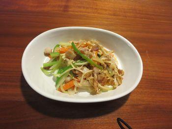 IMG_0373千切り野菜炒め