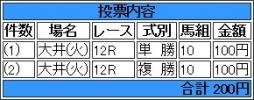 20140624 大井8R リメンバーメジロ
