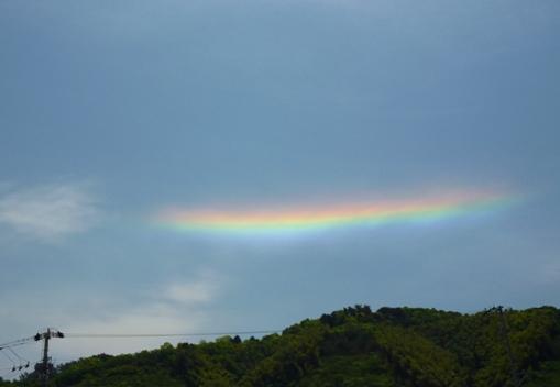 環水平方向の虹