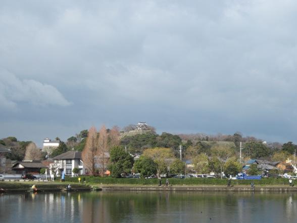 東側から彦根城