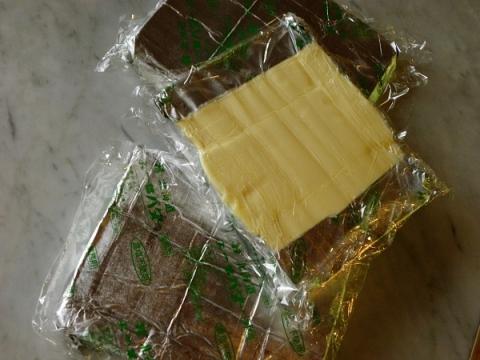 シート状にしたバター