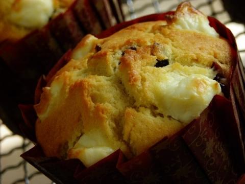 クランベリークリームチーズマフィン 焼きたて
