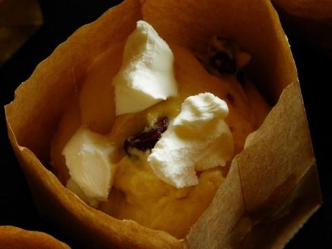 クランベリーとクリームチーズマフィン