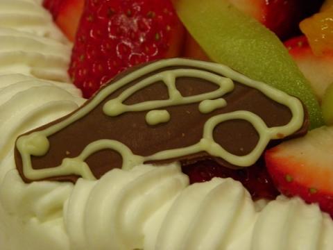 誕生日ケーキ チョコプレート 車