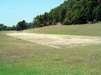 オリンポスの古代競技場の眺め