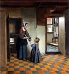 食料貯蔵庫の女と子供