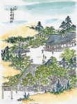 江戸名所図絵での三田春日明神社