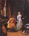 楽器をもつ優雅な男女