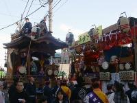 居囃子と山車の競演