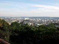 天覧山頂上から飯能市街の眺望