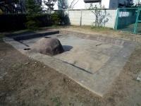 竪穴式住居の釜戸