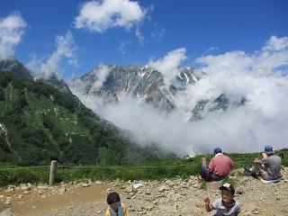 白馬三山絶景スポットで昼食