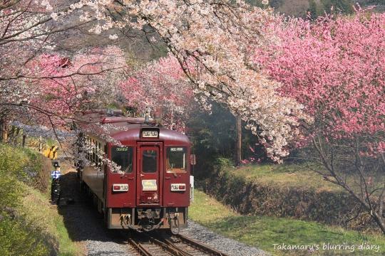 わたらせ渓谷鉄道 神戸駅付近