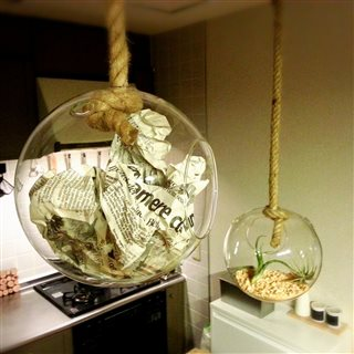 Francfranc hanging glass ball