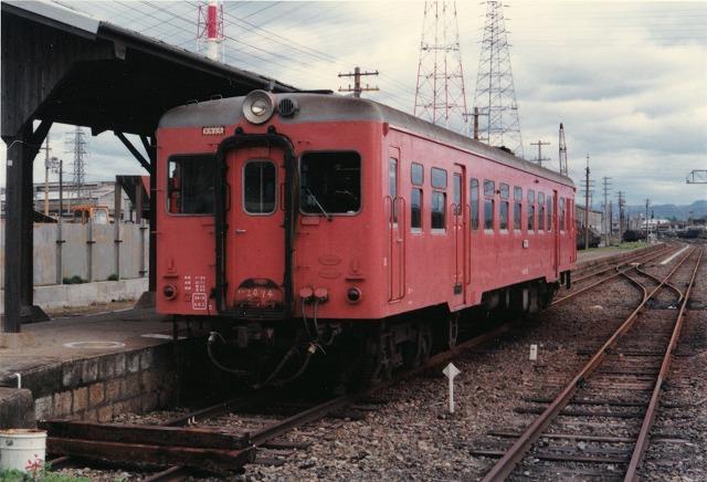 ①1飾磨港駅普通列車