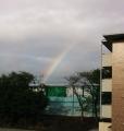 虹がきれいです!