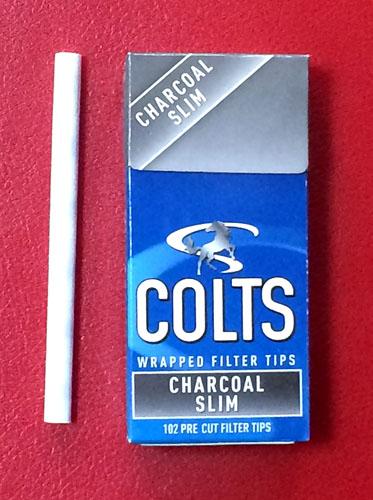 手巻きタバコ COLTS_CHARCOAL_SKIM COLTS コルツ・チャコール・スリム コルツ スリムサイズ チャコールフィルター 活性炭 RYO Hand_Rolling_Tobacco