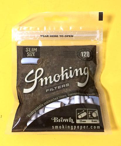 Smoking_filter_slim_brown Smoking スモーキング・スリムフィルター・ブラウン スモーキング フィルター 無添加 無漂白 RYO
