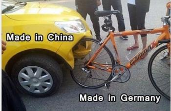 news中国製品とドイツ製品の特徴がよくわかる事故が激写される