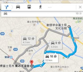 map埼玉県富士見市東みずほ台車で十数分