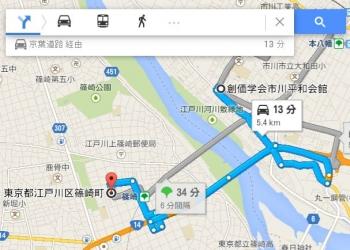 map東京都江戸川区篠崎町車で十数分