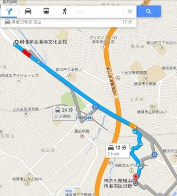 map神奈川県横浜市港南区日野車で十数分