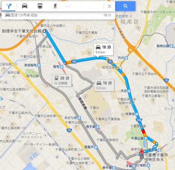 map千葉県千葉市中央区弁天車で十数分