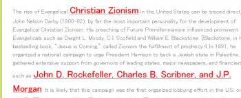 tenChristian Zionismロックフェラー